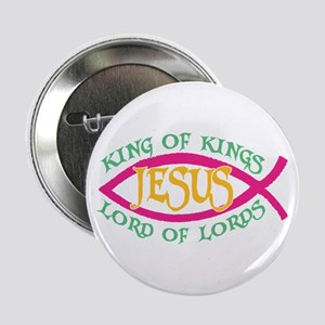 King of Kings Ichthus Button