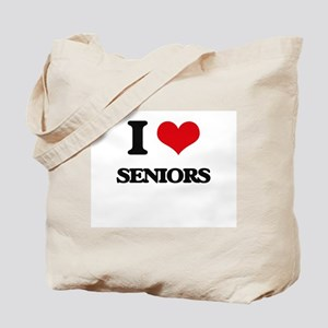 I Love Seniors Tote Bag