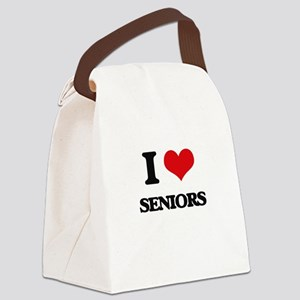 I Love Seniors Canvas Lunch Bag