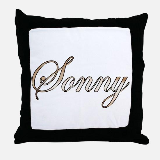 Gold Sonny Throw Pillow