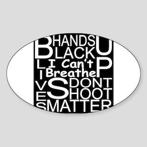 Black Lives Matter Sticker (oval)