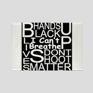 Black Lives Matter Rectangle Magnet Magnets