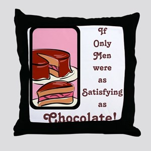 Mmm Chocolate... Throw Pillow