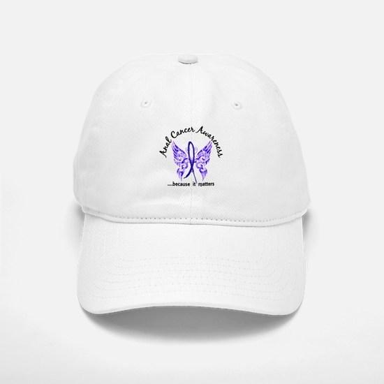 Anal Cancer Butterfly 6.1 Baseball Baseball Cap