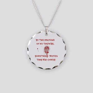 Something Wicked Necklace Circle Charm