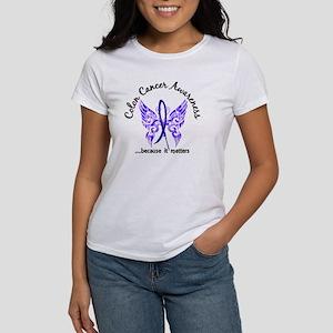 Colon Cancer Butterfly 6.1 Women's T-Shirt
