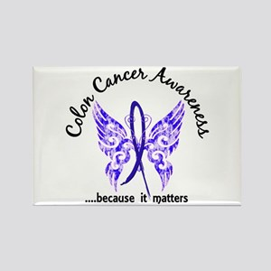 Colon Cancer Butterfly 6.1 Rectangle Magnet