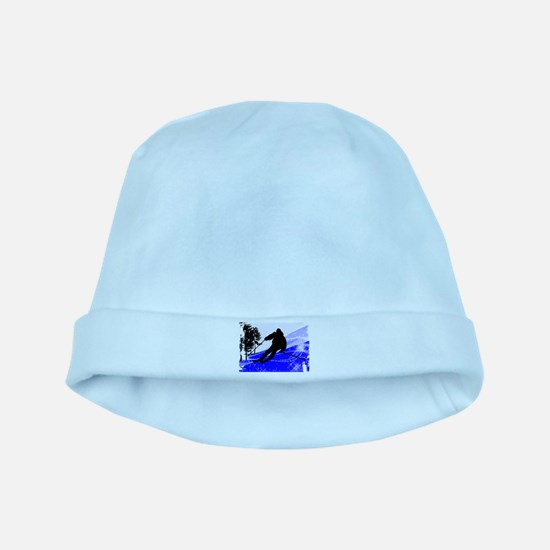 Downhill on the Ski Slope Edges.png baby hat