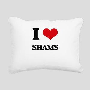 I Love Shams Rectangular Canvas Pillow