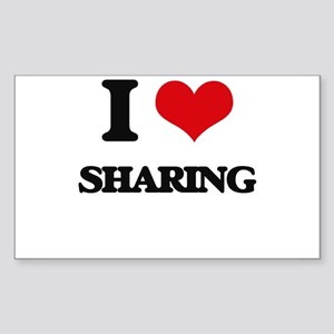 I Love Sharing Sticker