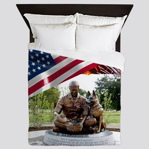 German Shepherd War Dog Memorial Queen Duvet