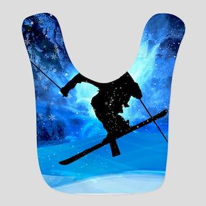 Winter Landscape and Freestyle Skier Bib