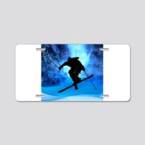 Winter Landscape and Freest Aluminum License Plate
