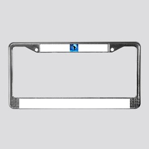 Winter Landscape and Freestyle License Plate Frame