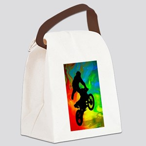 Motocross in a Solar Melt Down .p Canvas Lunch Bag