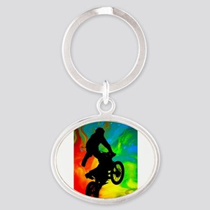 Motocross in a Solar Melt Down Keychains