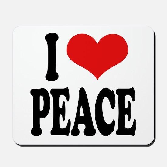 I Love Peace (word) Mousepad