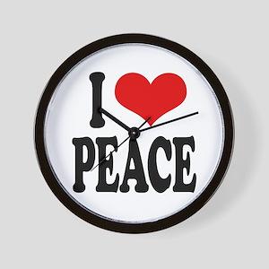 I Love Peace (word) Wall Clock