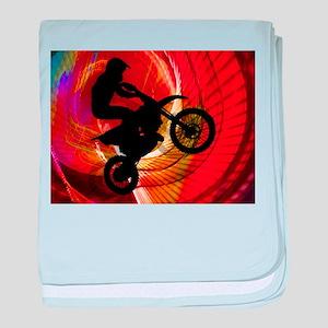 Motocross Light Streaks in a Windtunn baby blanket