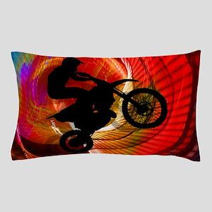 Motocross Light Streaks in a Windtunne Pillow Case