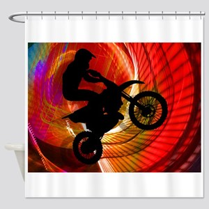 Motocross Light Streaks in a Windtu Shower Curtain