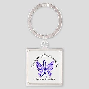 Syringomyelia Butterfly 6.1 Square Keychain