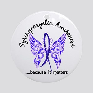 Syringomyelia Butterfly 6.1 Ornament (Round)