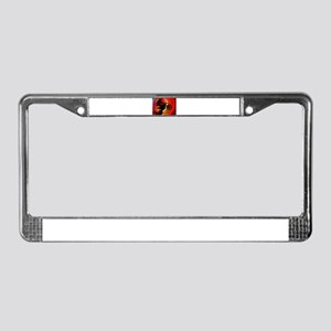 Motocross Light Streaks in a W License Plate Frame