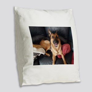 Quanna Burlap Throw Pillow