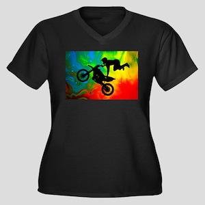 Solar Flare Up Motocross Plus Size T-Shirt
