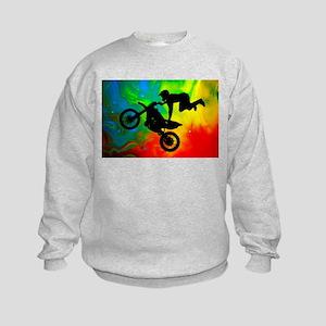 Solar Flare Up Motocross Kids Sweatshirt