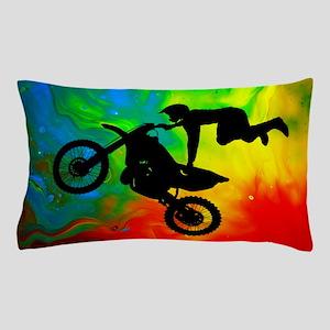 Solar Flare Up Motocross Pillow Case