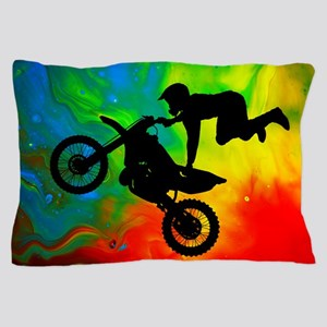 Solar Flare Up Motocross.png Pillow Case