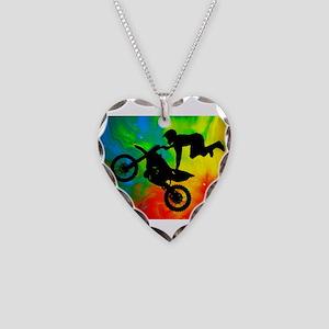 Solar Flare Up Motocross Necklace Heart Charm