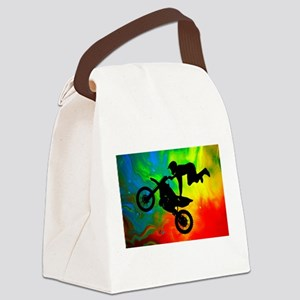 Solar Flare Up Motocross Canvas Lunch Bag
