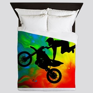 Solar Flare Up Motocross Queen Duvet
