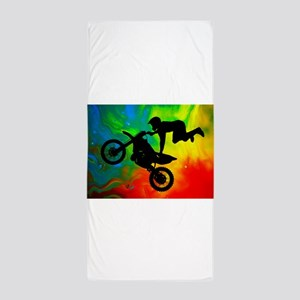Solar Flare Up Motocross Beach Towel