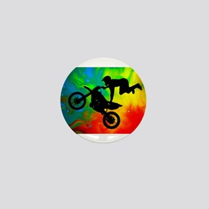 Solar Flare Up Motocross Mini Button