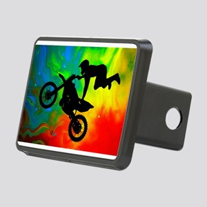 Solar Flare Up Motocross.p Rectangular Hitch Cover