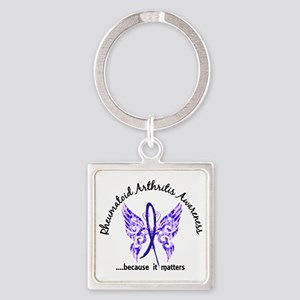 RA Butterfly 6.1 Square Keychain