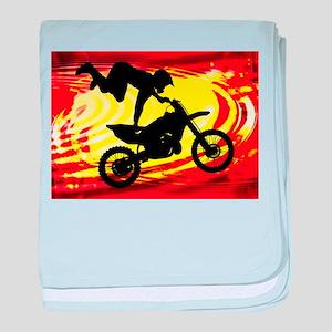 Explosive Motocross Jump baby blanket