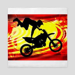 Explosive Motocross Jump Queen Duvet