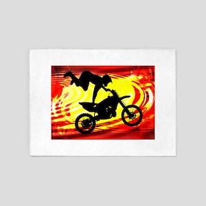 Explosive Motocross Jump 5'x7'Area Rug