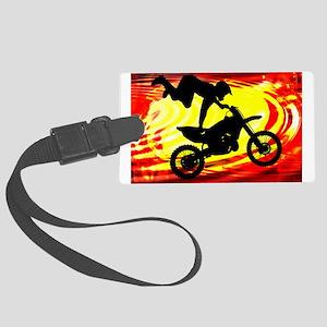 Explosive Motocross Jump Large Luggage Tag
