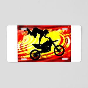 Explosive Motocross Jump.pn Aluminum License Plate