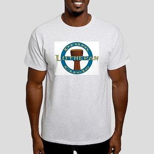 Lutheran Drum Circle T-Shirt, ash grey & more