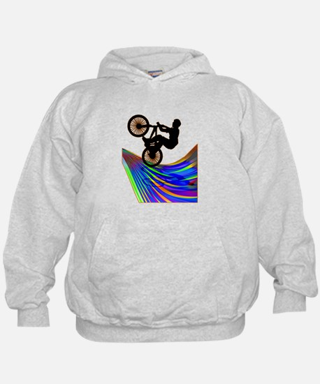 BMX on a Rainbow Road.png Hoody