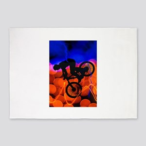 BMX in Light Crystals and Lightning 5'x7'Area Rug