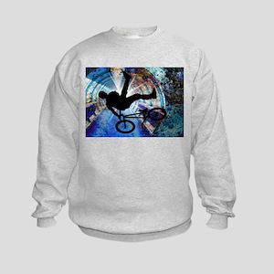 BMX in a Grunge Tunnel Kids Sweatshirt