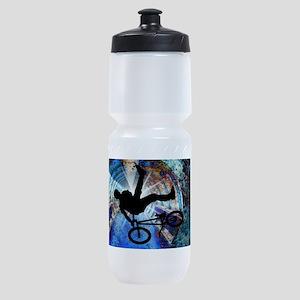 BMX in a Grunge Tunnel Sports Bottle